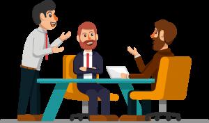 مشروع الكتروني مربح tqoo.net تقدير الميزانية تقدير الميزانية meeting resource illustration meeting to discuss the demand 300x177